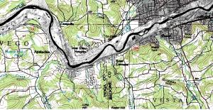 Flood Map: IPLER provides data products like this aerial map of a flood zone to emergency responders